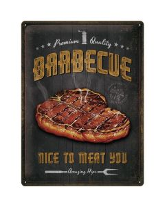 Barbecue Nice To Meat You Blechschilder 30x40cm