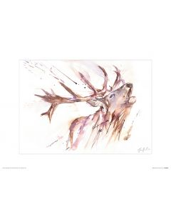 Hirsch Art Print Jennifer Rose 30x40cm