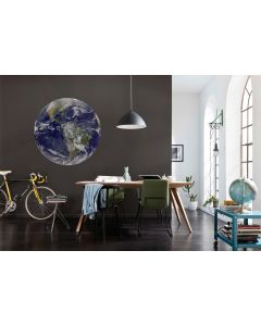 Earth Selbstklebende runde Tapete ⌀125cm