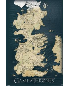Game Of Thrones Poster World Map 61x91.5cm