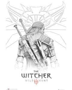 The Witcher Geralt Sketch Poster 61x91.5cm
