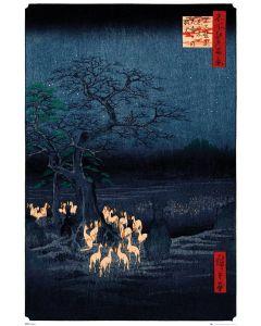 Hiroshige New Years Eve Foxfire Poster 61x91.5cm