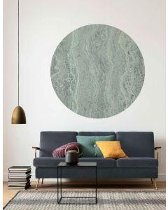 Green Marble Selbstklebende runde Tapete ⌀125cm