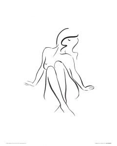 In Pose Art Print Louise Nisbet 40x50cm