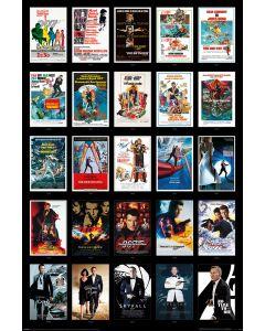 James Bond 25 Films Poster 61x91.5cm