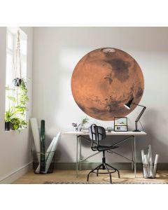 Mars Selbstklebende runde Tapete ⌀125cm