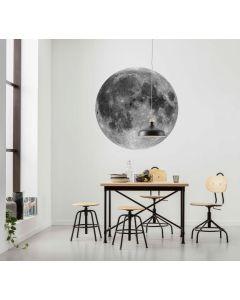 Moon Selbstklebende runde Tapete ⌀125cm