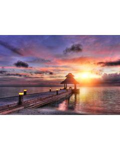 Sonnenuntergang Malediven 7-teilige Fototapete 350x260cm