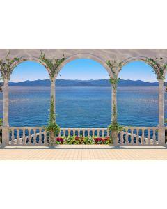 Terrasse mit Kolonnade 7-teilige Fototapete 350x260cm