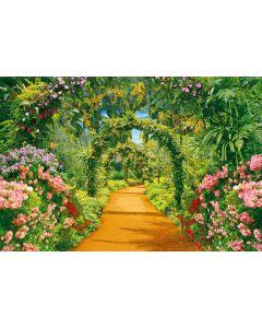 Blumengasse 7-teilige Fototapete 350x260cm