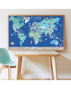 Poppik Flaggen der Welt Sticker Poster 100x68cm