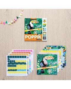 Poppik Tropische Sticker Karten 15x15cm