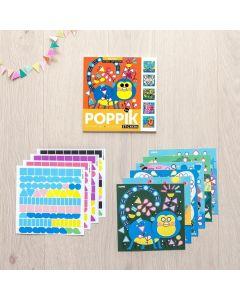 Poppik Tiere Sticker Karten 15x15cm