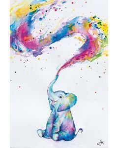Marc Allante Poster Baby Elefant 61x91.5cm