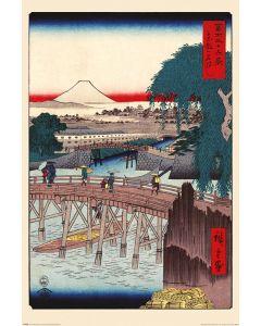 Hiroshige Ichikoku Brücke in der östlichen Hauptstadt Poster 61x91.5cm