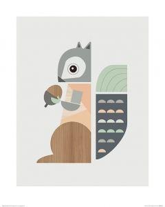 Eichhörnchen Art Print Little Design Haus 40x50cm