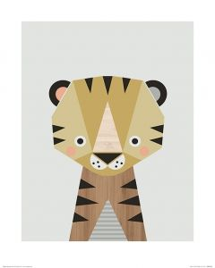 Tiger Art Print Little Design Haus 40x50cm
