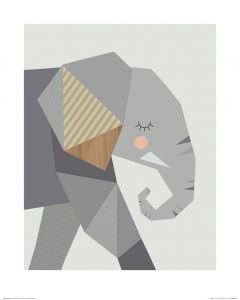 Elefant Art Print Little Design Haus 40x50cm