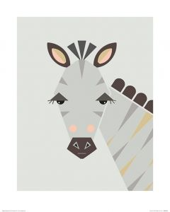 Zebra Art Print Little Design Haus 40x50cm