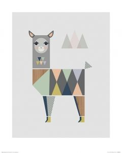 Lama Art Print Little Design Haus 40x50cm