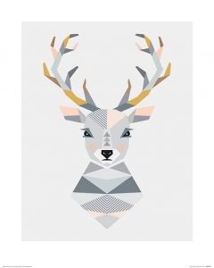 Hirsch Art Print Little Design Haus 40x50cm