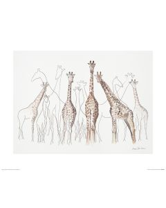 Giraffen Art Print Aimee Del Valle 40x50cm