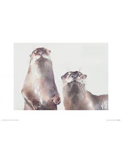 Zwei Fischotter Art Print Aimee Del Valle 30x40cm