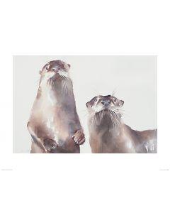Zwei Fischotter Art Print Aimee Del Valle 60x80cm