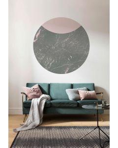 Stripe Marmor Selbstklebende runde Tapete ⌀125cm