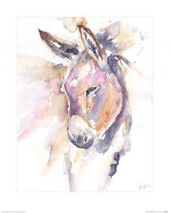 Thoughtful Donkey Art Print Jennifer Rose 40x50cm