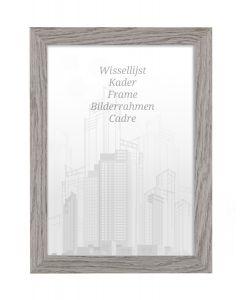 Bilderrahmen 60x80cm Felsgrau - Holz