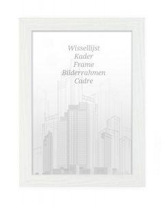 Bilderrahmen 60x80cm Eiche Weiß - Holz