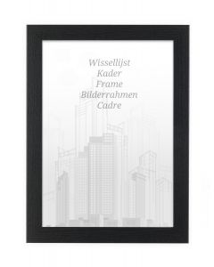 Bilderrahmen 61x91,5cm Eiche Schwarz - Holz