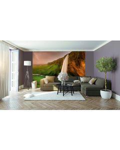 Wasserfall Island Fototapere 4-teilig 368x254cm