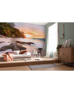 Strand Sonnenaufgang 4-teilige Vlies Fototapete 368x248cm