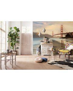 Golden Gate Bridge San Francisco 4-teilige Vlies Fototapete 368x248cm