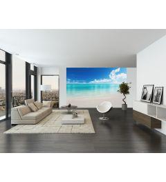 Der weiße Strand 8-teilige Vlies Fototapete 366x254cm
