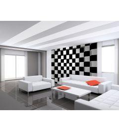 Schwarz-Weiß Quadratische 8-teilige Vlies-Fototapete 366x254cm