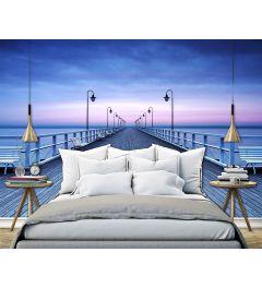 Pier Aan Het Water 8-teilige Vlies Fototapete 366x254cm