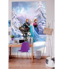 Frozen Winter 4-teilige Fototapete 184x254cm