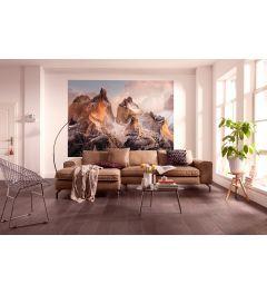Torres Del Paine 4-teilige Fototapete 184x254cm