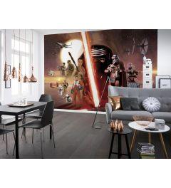 Star Wars EP7 Collage 8-teilige Fototapete 368x254cm
