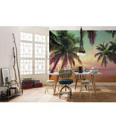 Miami Palmen 8-teilige Fototapete 368x254cm