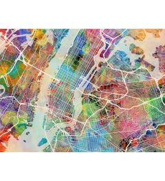 New York City - Street Map - Color