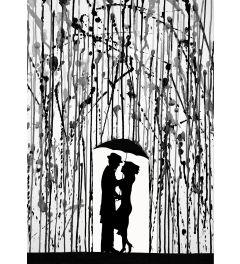 Regenschirm - Schwarz Weiss