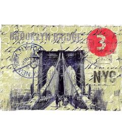New York Brooklyn Bridge Kunstdruk 59.4x42cm