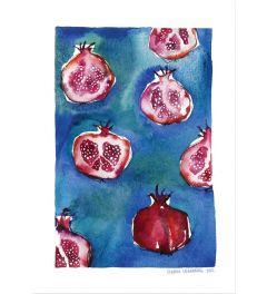 Granatapfel-Muster