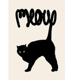 Schwarze Katze - Meow