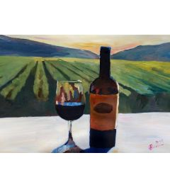 Napa Valley Wine Bottle - M Bleichner