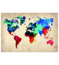 Weltkarte - Multi Color
